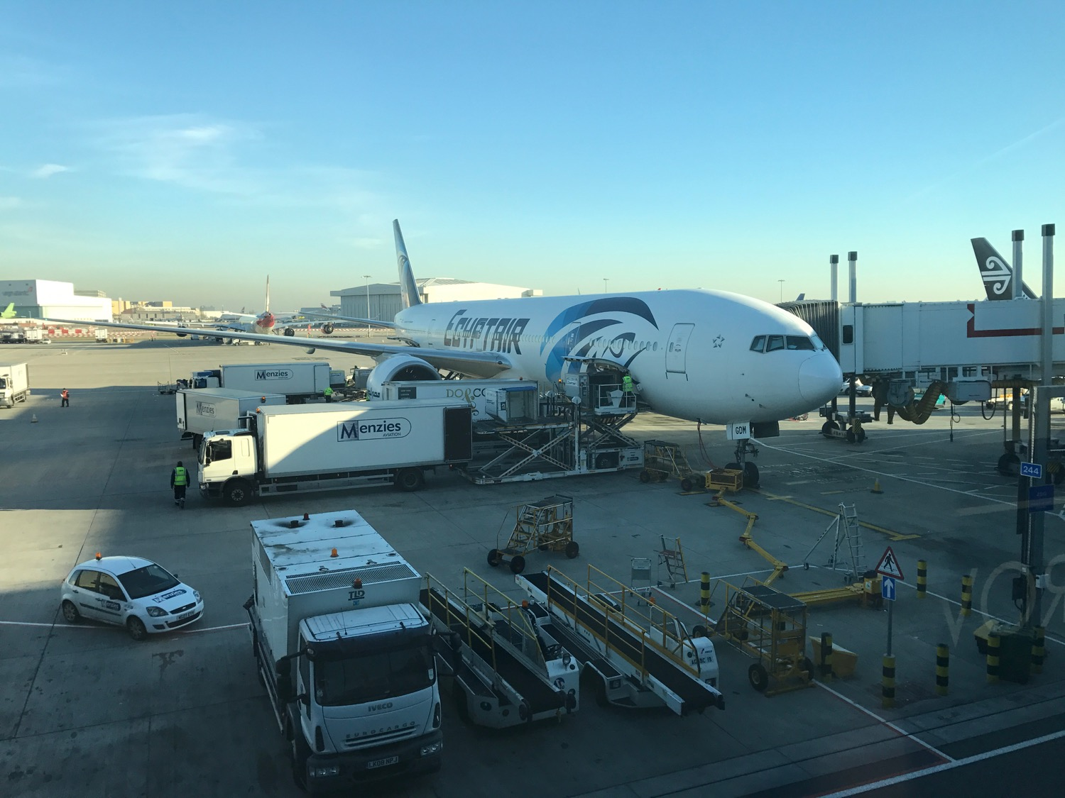 EgpytAir London to Cairo 777-300 Business Class - 7
