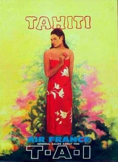 Air France Tahiti Poster