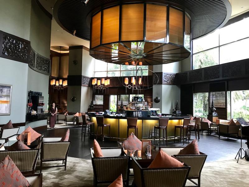 The diplomat bar and restaurant at the Conrad Bangkok