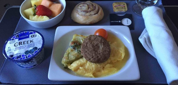 United Airlines Breakfast