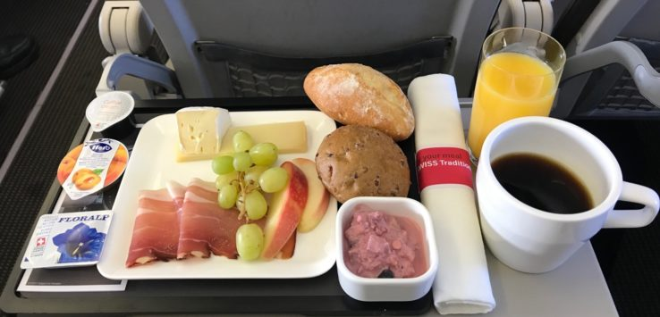 Swiss Business Class Europe Breakfast