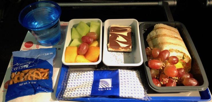 United Premium Transcontinental Economy Meals
