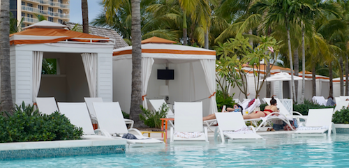 Beautiful pools and cabanas of Baha Mar