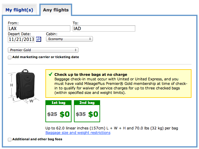 United Airlines Reduces Free Checked Baggage Allowance for ...