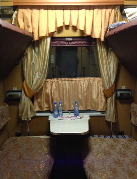 tbilisi-yerevan-second-class-compartment