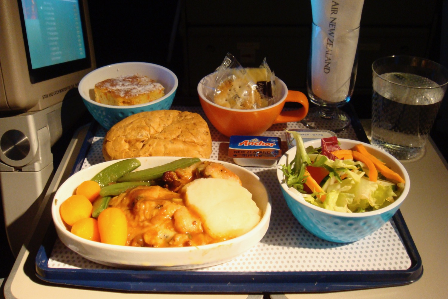 Air New Zealand Economy meals