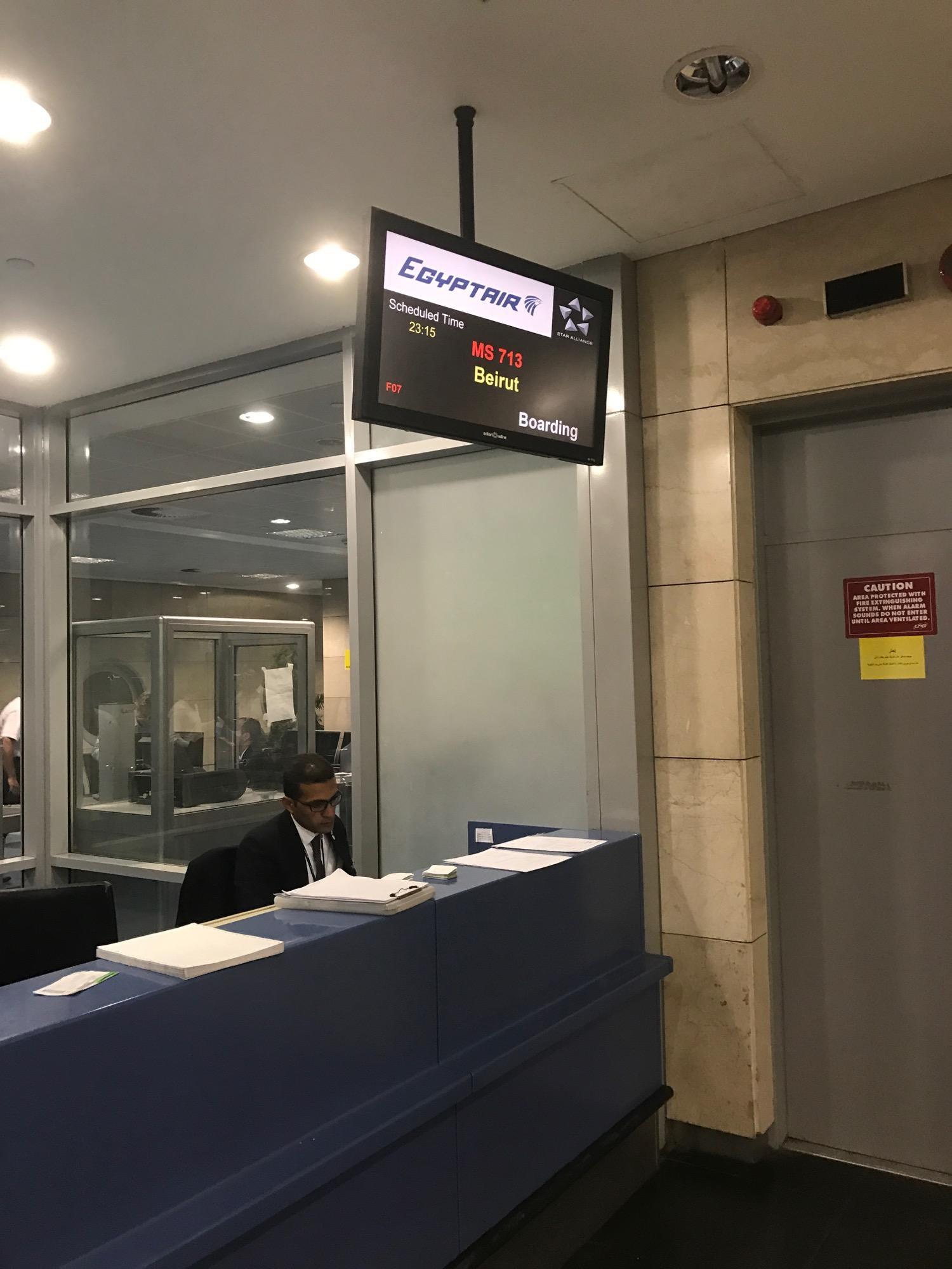 EgpytAir Cairo to Beirut 737-800 Business Class - 2