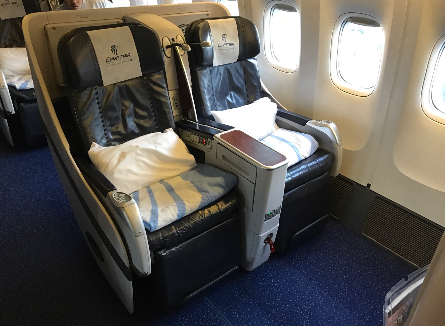EgpytAir London to Cairo 777-300 Business Class - 9