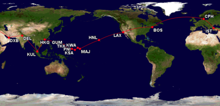 Around the World in a 737