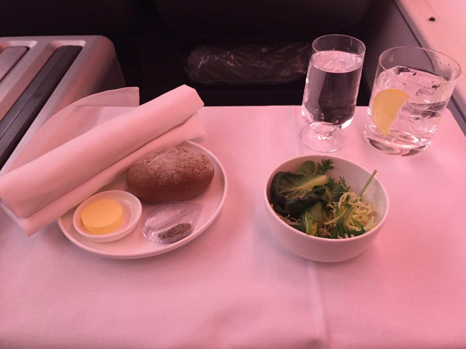 Qantas Business Class 747 Review - 23