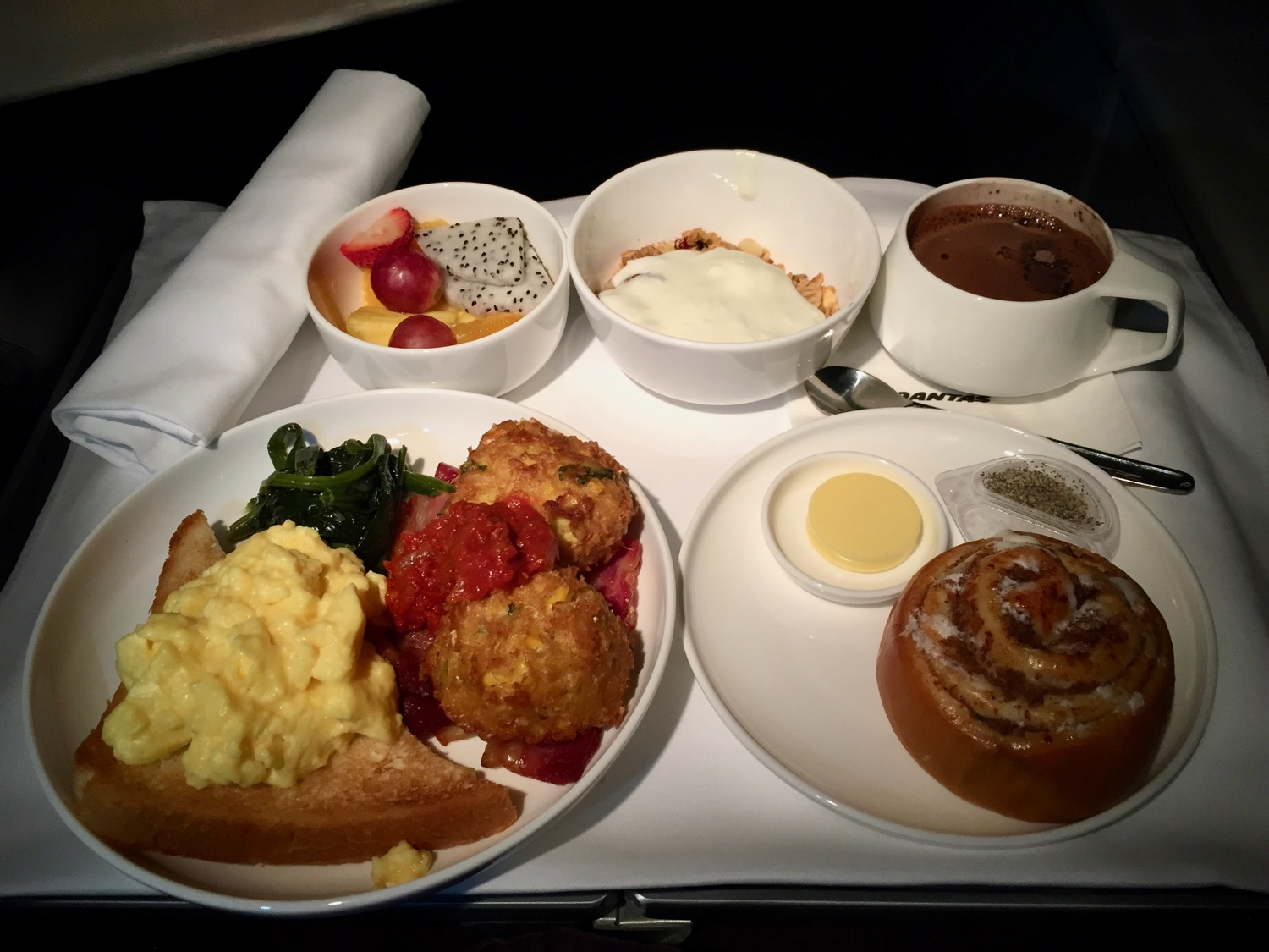 Qantas Business Class 747 Review - 32