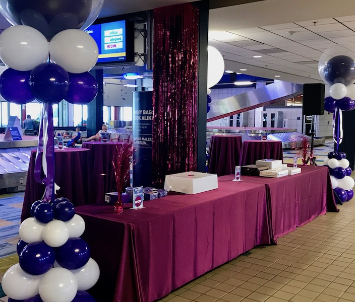 WOW Air arrival party.