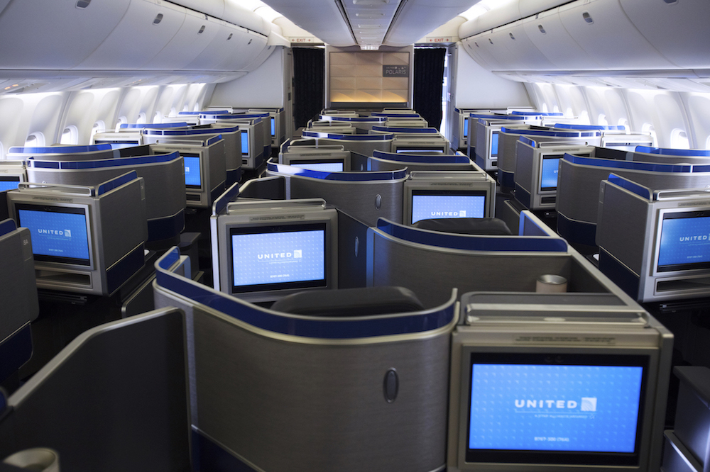 First United 767 300 With Polaris Seats Takes Flight