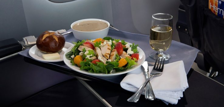 United Airlines First Class Meal Cutbacks