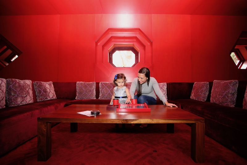 Carly and Lucy in the Red Room (before open time, made available for our photo session only).