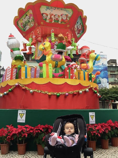 Lucy's first Christmas in Macau.