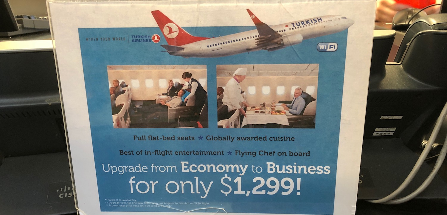 Business Class Upgrades On Turkish Airlines At The Airport