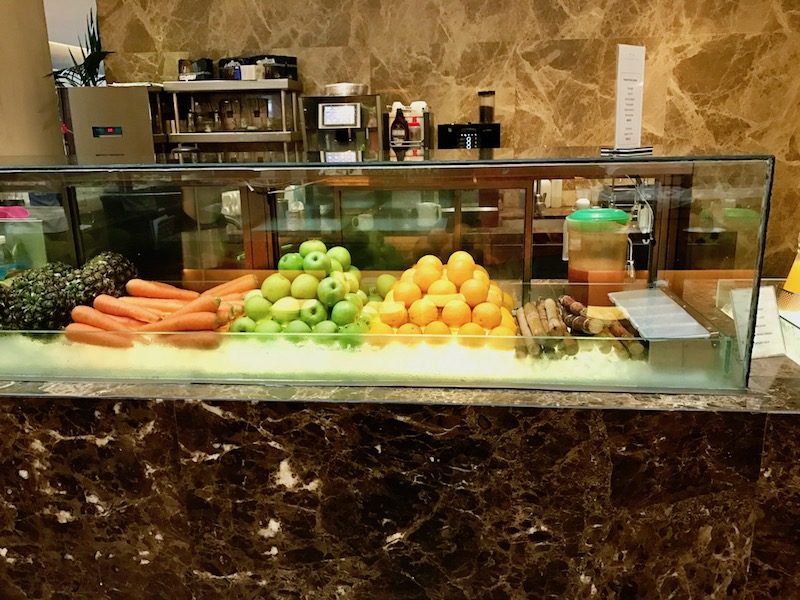 Fresh juice station not included with the buffet