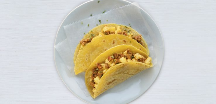 United Airlines Tacos