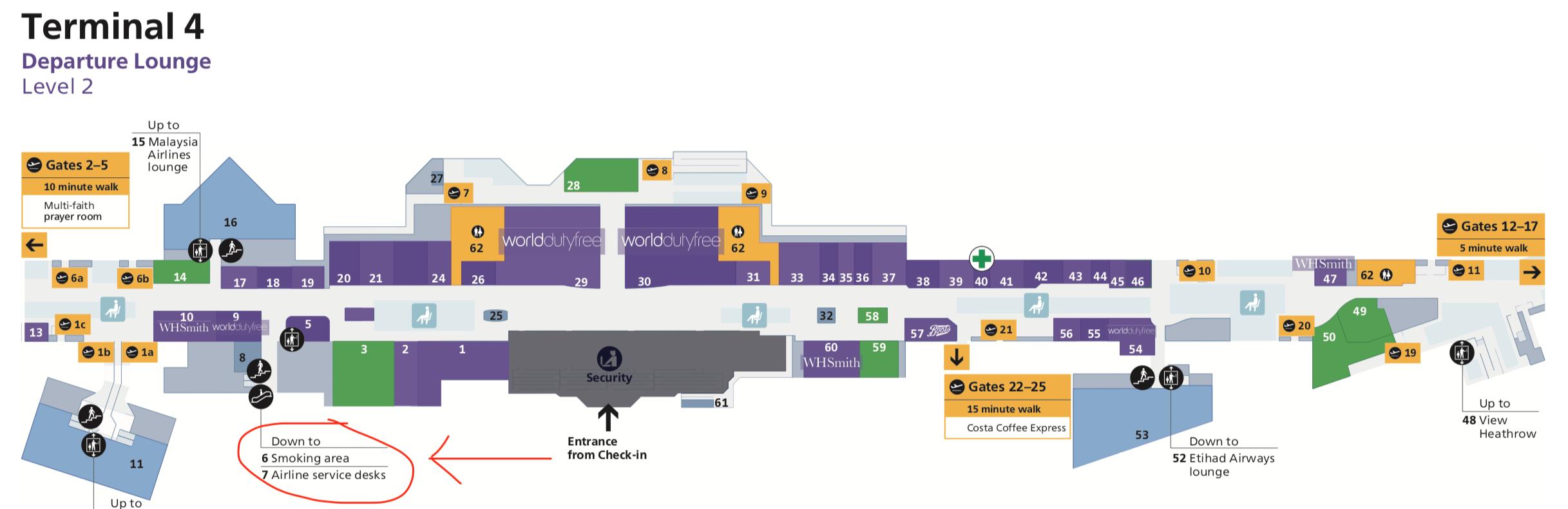Where to Smoke Inside London Heathrow Airport - Live and ...
