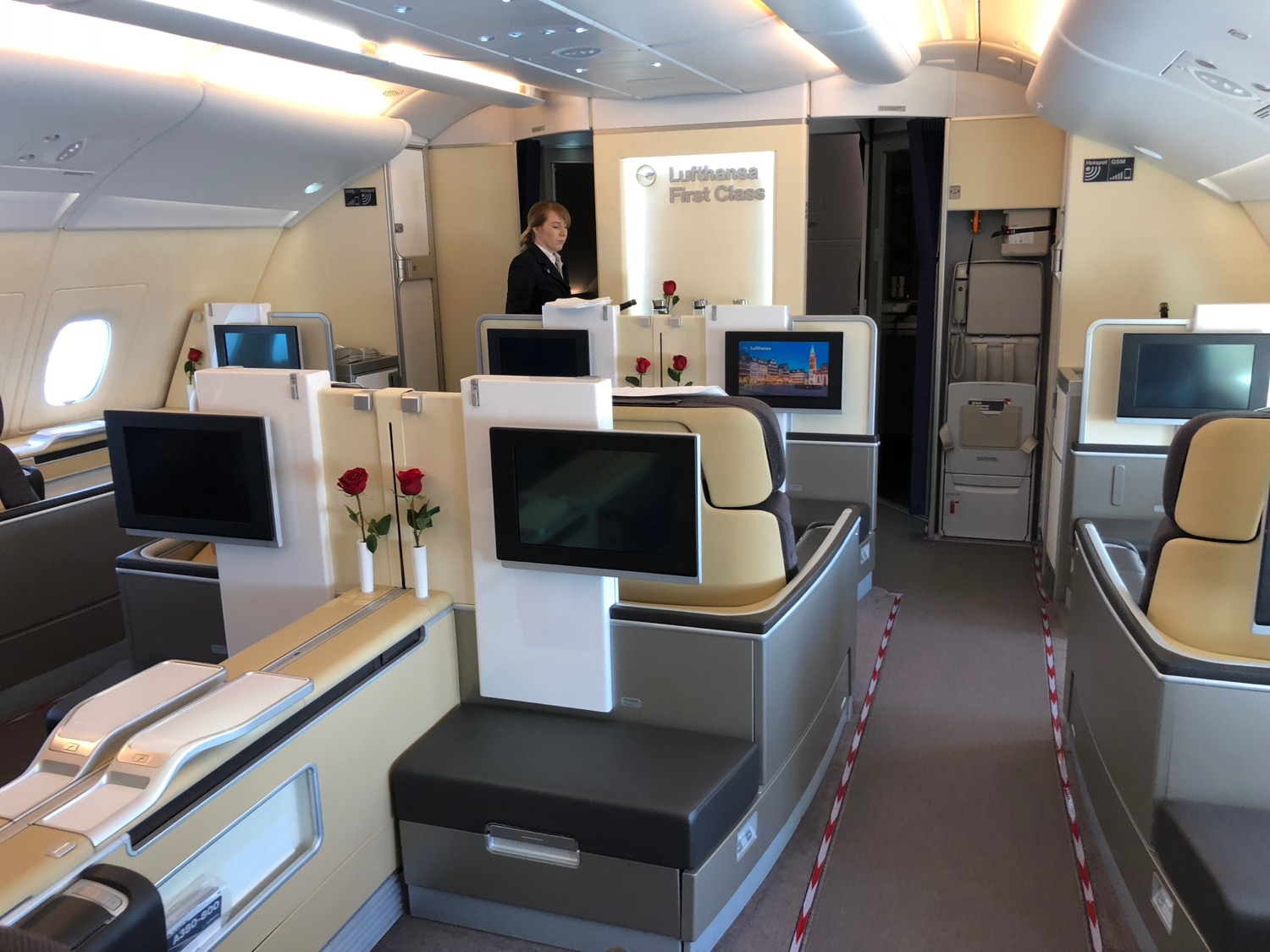 Review Lufthansa A380 First Class Houston To Frankfurt Live And Let S Fly