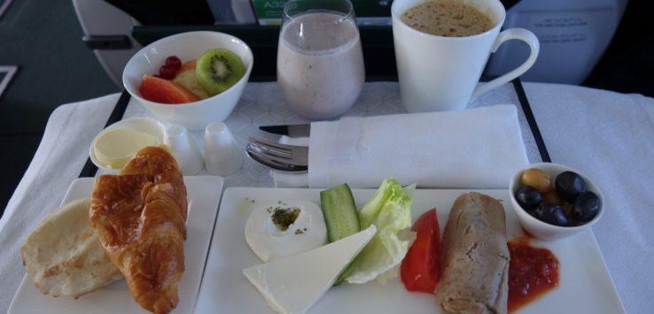 Qatar Airways Breakfast