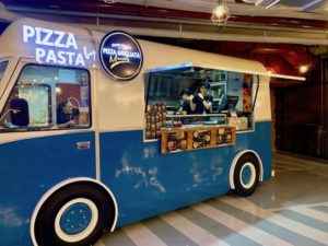 Pizza and pasta food truck in The Garage