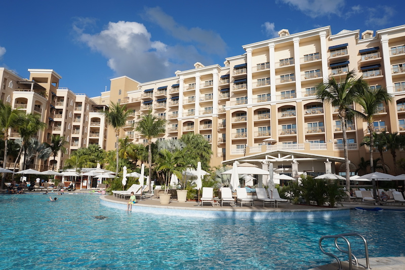 Ritz-Carlton Grand Cayman from the pool