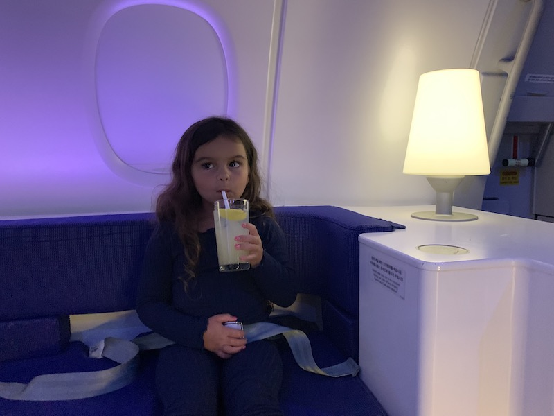 Lucy did love the on-board lounge