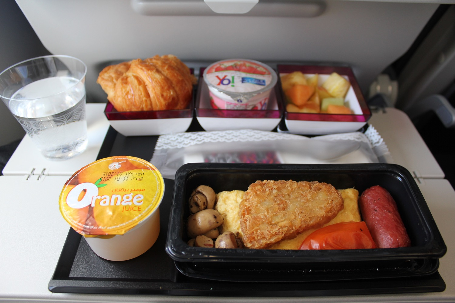 Economy Class Breakfast On Qatar Airways