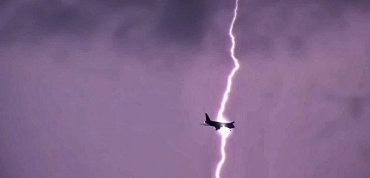 Airplane Lightning Strike