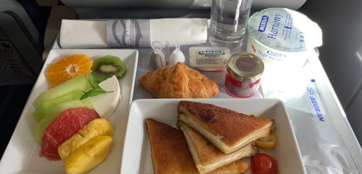 Aegean Business Class Breakfast