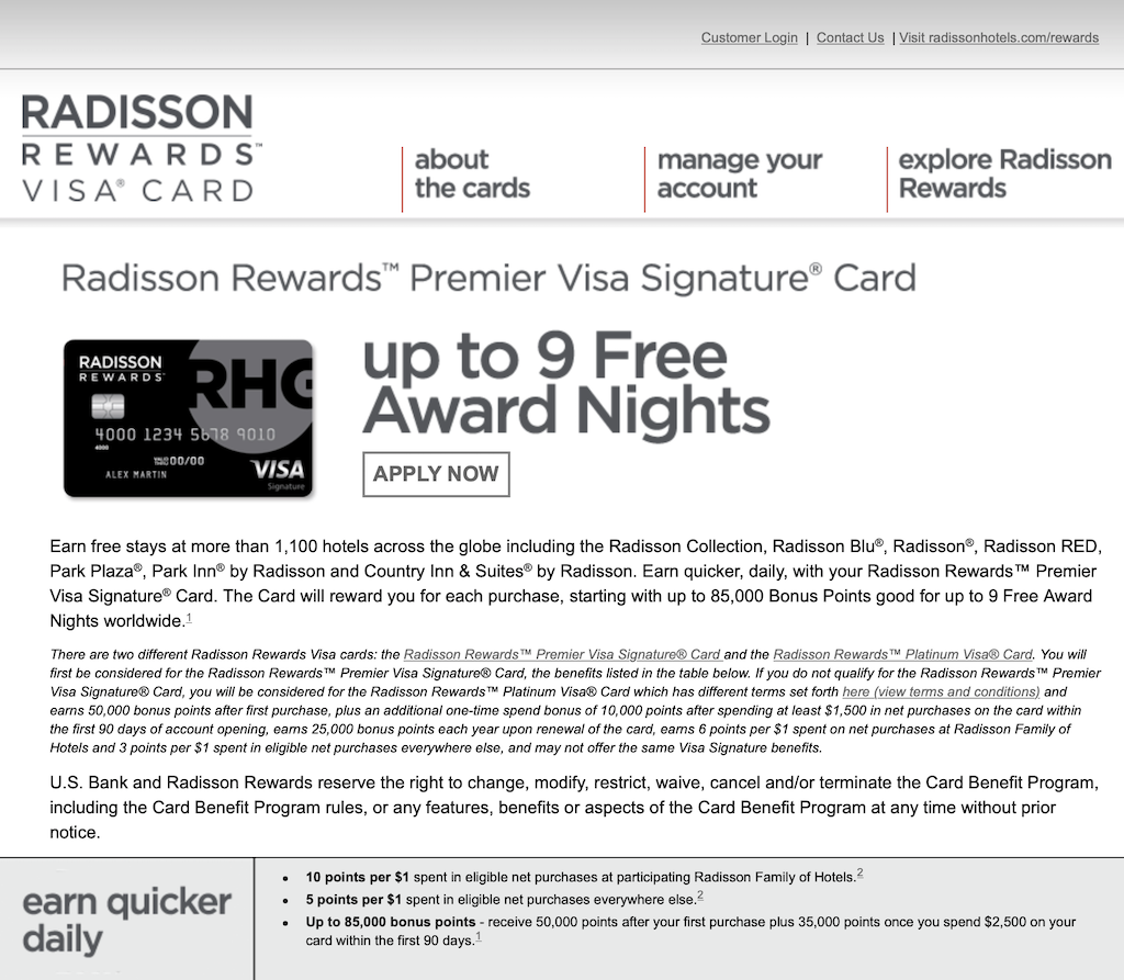 Club Carlson hidden offer