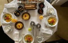 Park Hyatt Paris-Vendome room service breakfast for three