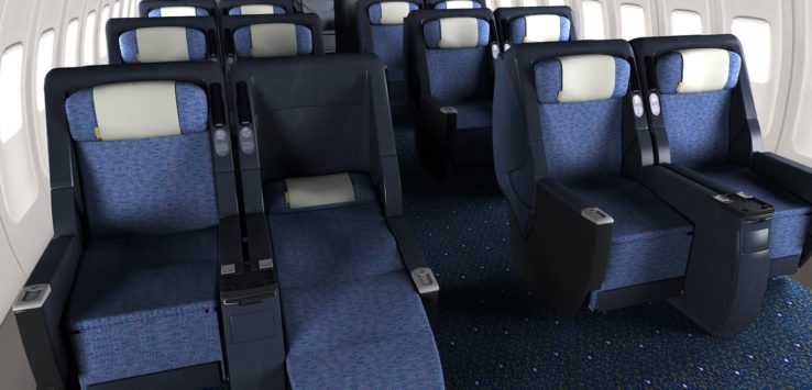 United 757 PS First Class Review