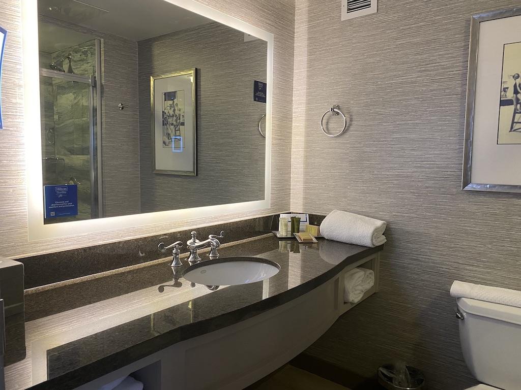 Hilton Virginia Beach Oceanfront guest room vanity