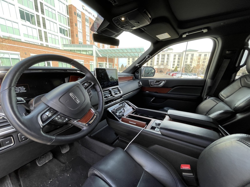 Lincoln Navigator interior from National Car Rental