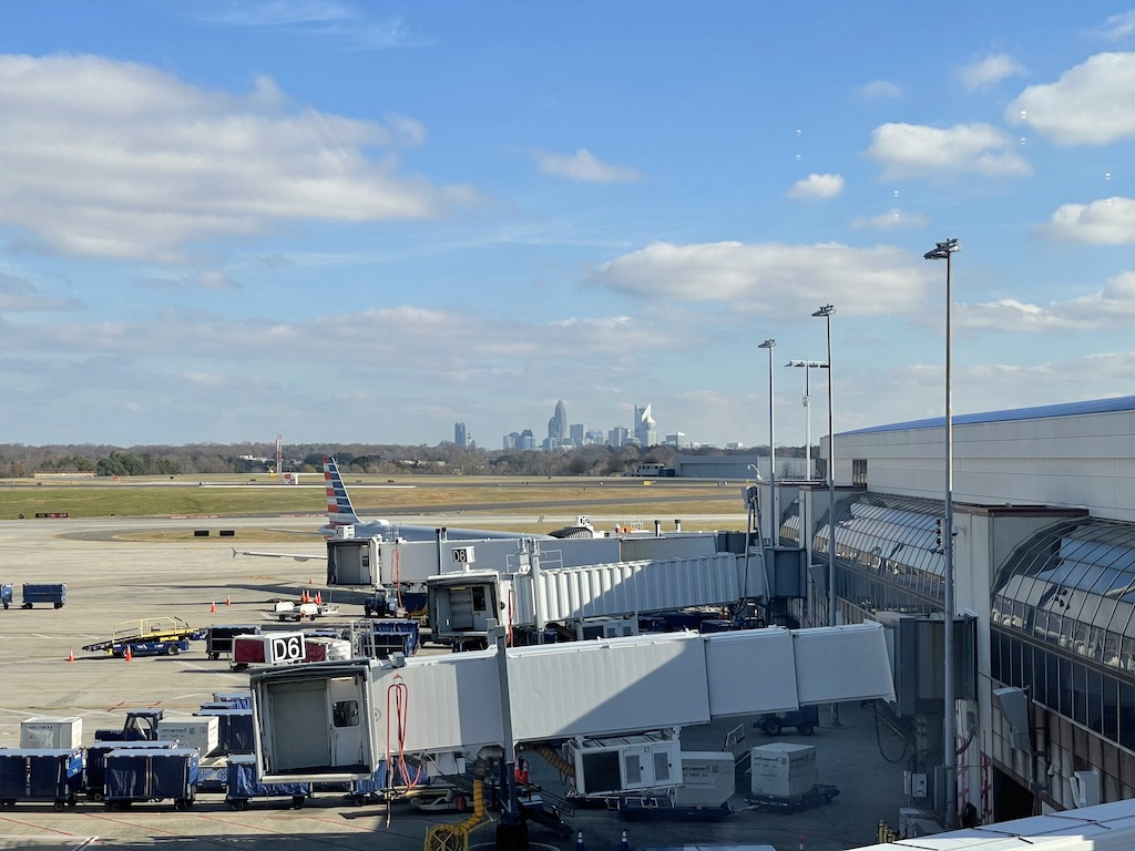 American Express Centurion Lounge Charlotte city view