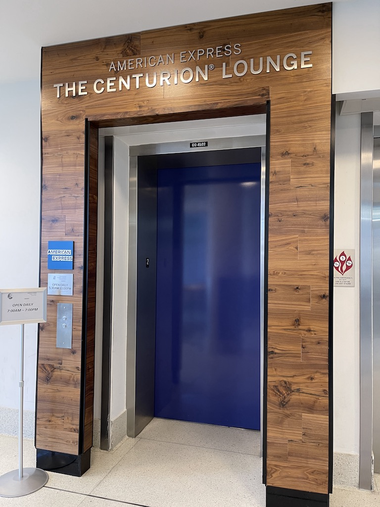 American Express Centurion Lounge Charlotte lift