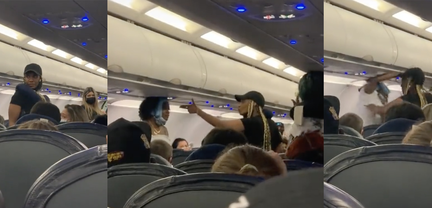 Catfight On Spirit Airlines – Taunts Lead To Blows
