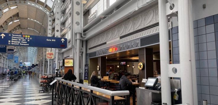 Chilis Too seating Chicago O'Hare T2 B concourse Chilis Ohare