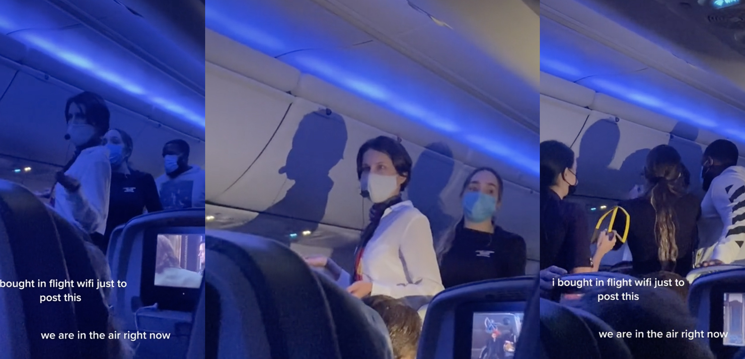 Woman On Delta Flight Brings Her Own Microphone To Go On COVID-19 Rant